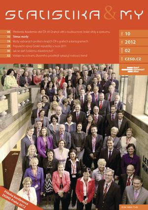 titulní strana časopisu Statistika&My 10/2012