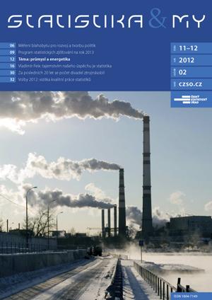 titulní strana časopisu Statistika&My 11-12/2012