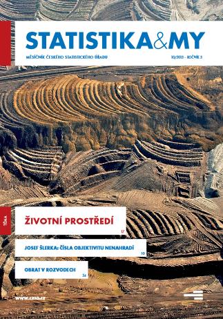 titulní strana časopisu Statistika&My 10/2013