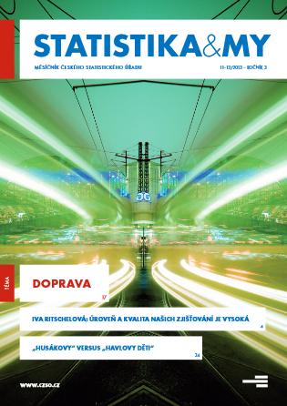 titulní strana časopisu Statistika&My 11-12/2013