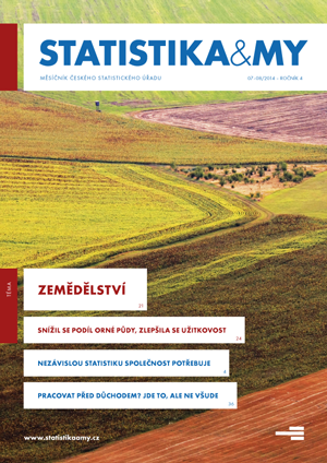 titulní strana časopisu Statistika&My 07-08/2014