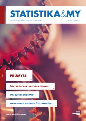 titulní strana časopisu Statistika&My 10/2014