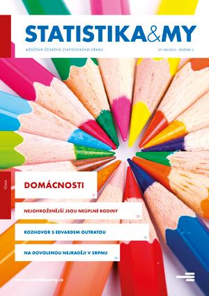 titulní strana časopisu Statistika&My 07-08/2015