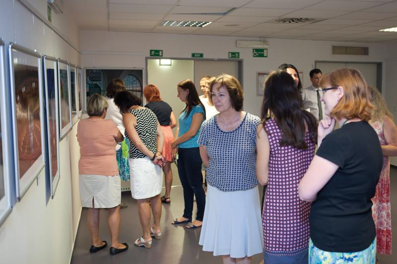Výstava Martina Frouze vzbudila zájem zaměstnanců ČSÚ.