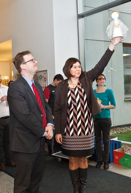 Vyhlášení vítězů soutěže ovýrobky dětí zdětského domova vÚstí nad Labem na Severní Terase.