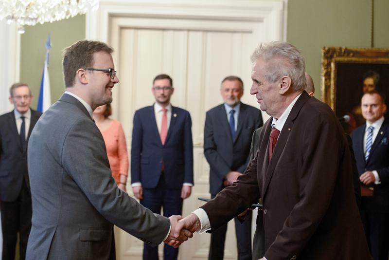 Prezident Miloš Zeman jmenoval Marka Rojíčka předsedou ČSÚ.