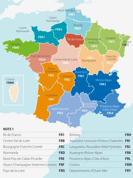 Územní uspořádání Francie