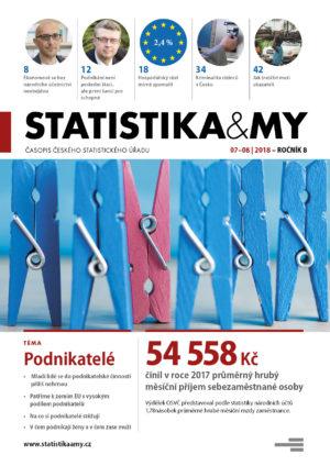 titulní strana časopisu Statistika&My 07-08/2018