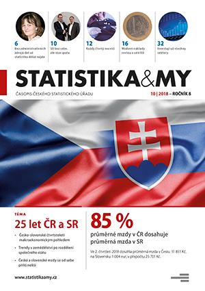 titulní strana časopisu Statistika&My 10/2018