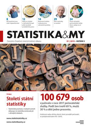 titulní strana časopisu Statistika&My 01/2019