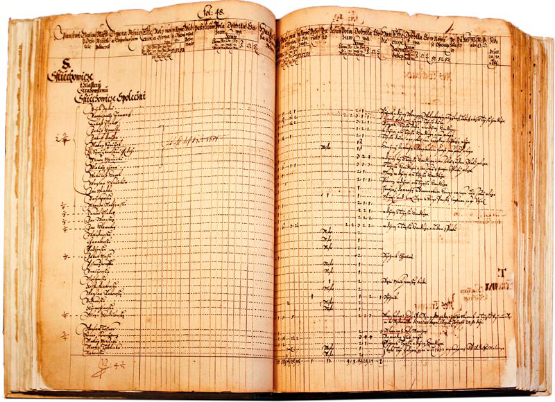 Originál zápisu zBerní ruly zroku 1654.