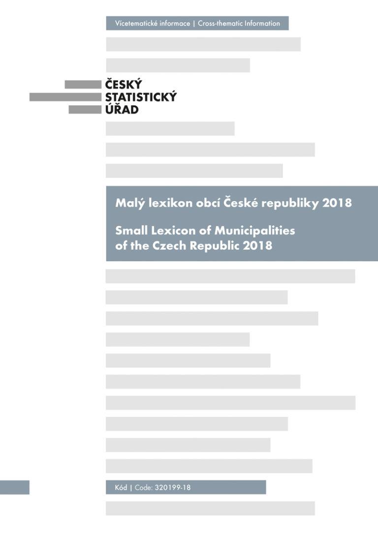 ČSÚ: Malý lexikon obcí České republiky 2018