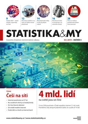 titulní strana časopisu Statistika&My 03/2019