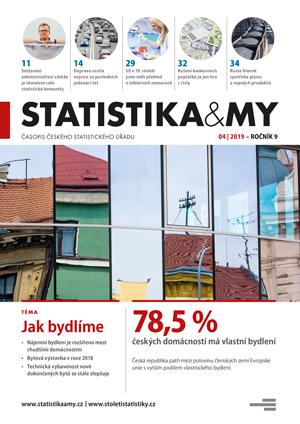 titulní strana časopisu Statistika&My 04/2019
