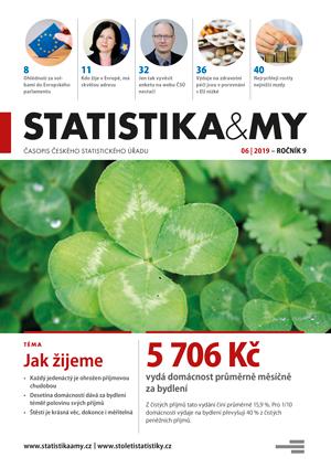 titulní strana časopisu Statistika&My 06/2019
