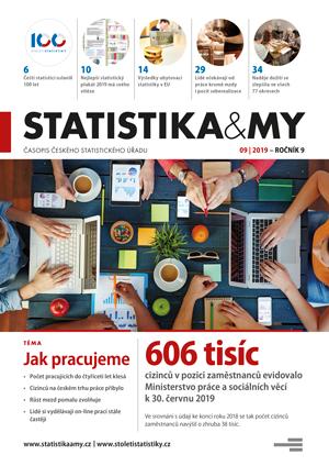 titulní strana časopisu Statistika&My 09/2019