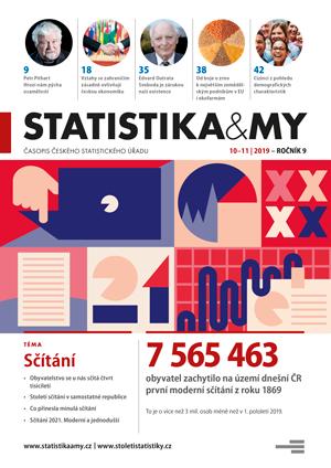 titulní strana časopisu Statistika&My 10-11/2019