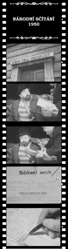Propagační scénka ke sčítání lidu vroce 1950 sJanem Werichem vhlavní roli.