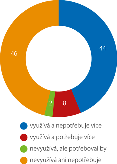 Využívání pomoci druhé osoby (%)