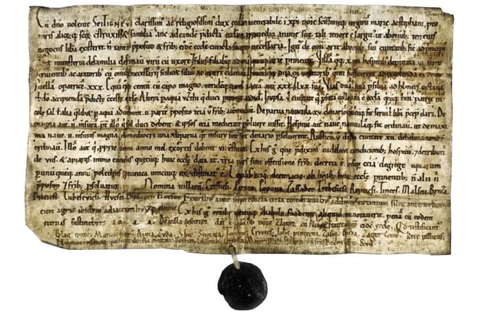 Zakládací listina kostela sv. Štěpána v Litoměřicích, rok 1058.