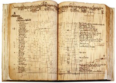 Originál zápisu z Berní ruly z roku 1654.
