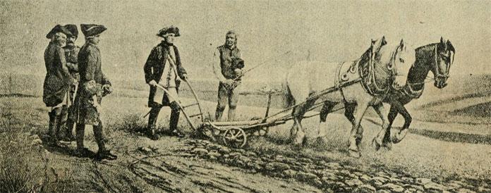 Orba Josefa II. na poli u Slavíkovic.