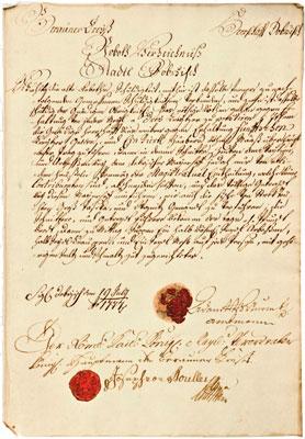 Robotní seznam datovaný rokem 1777.