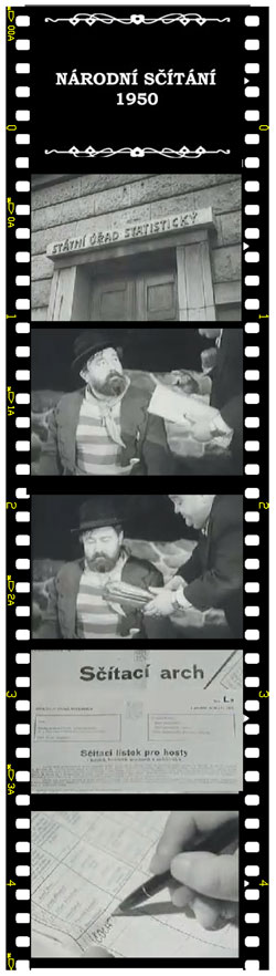 Propagační scénka ke sčítání lidu v roce 1950 s Janem Werichem v hlavní roli.