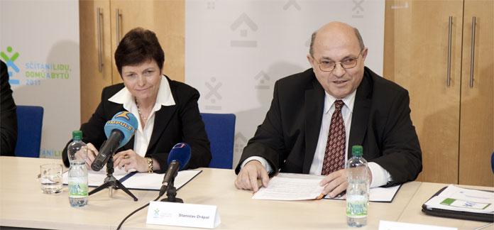 Základní výsledky představila na tiskové konferenci předsedkyně ČSÚ Iva Ritschelová a místopředseda ČSÚ Základní výsledky představila na tiskové konferenci předsedkyně ČSÚ Iva Ritschelová a místopředseda ČSÚ Stanislav Drápal.