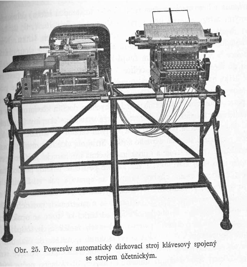 Obr.25. Powersův automatický dirkovací stroj