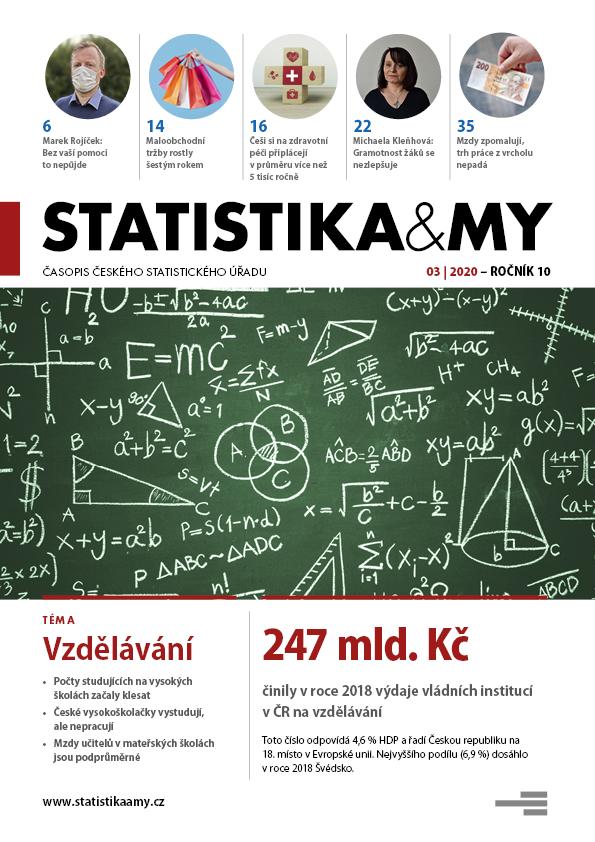 titulní strana časopisu Statistika&My 03/2020