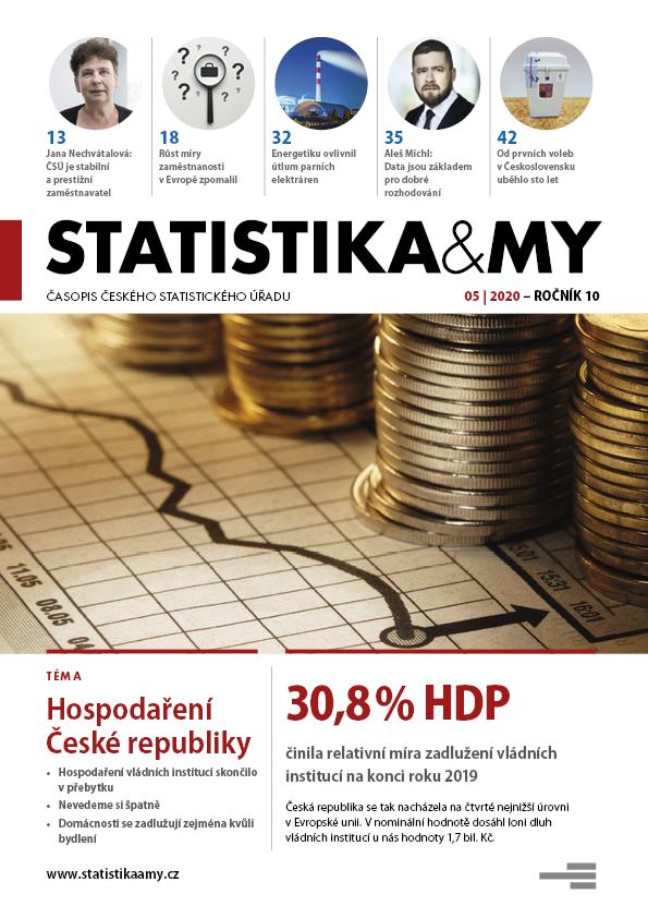 titulní strana časopisu Statistika&My 05/2020