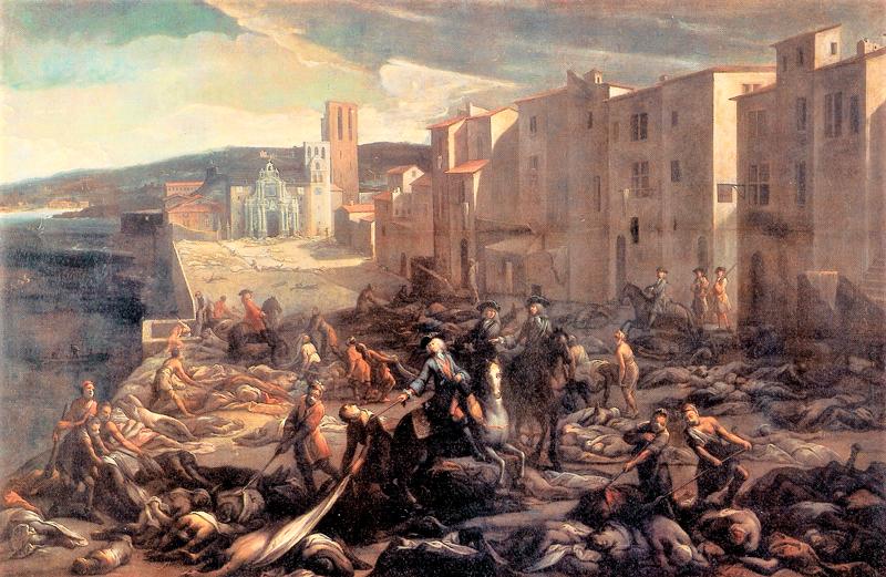 Velký mor ve Francii roku 1721, autor Michel Serre