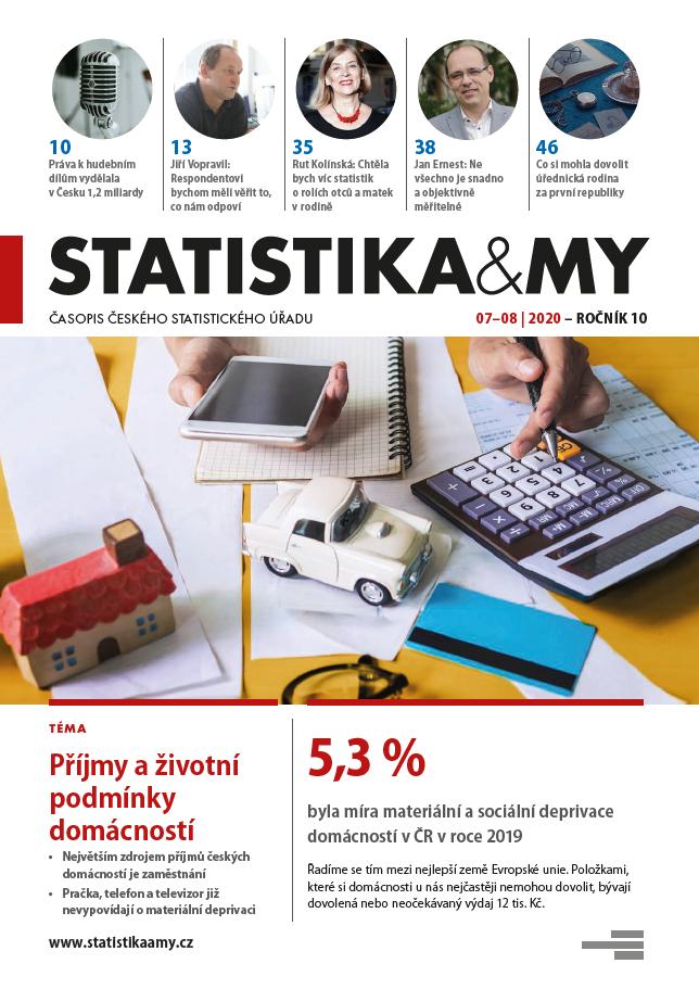 titulní strana časopisu Statistika&My 07-08/2020
