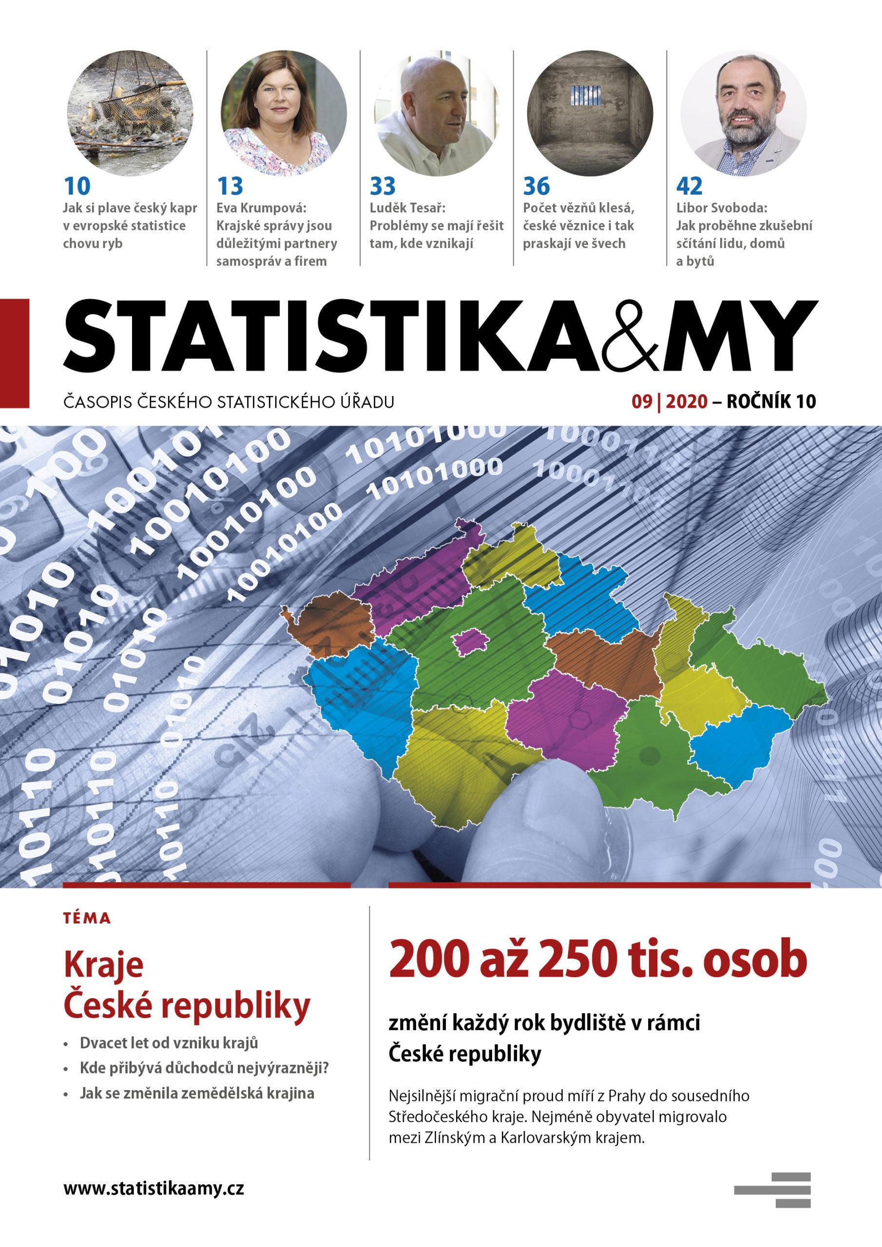titulní strana časopisu Statistika&My 09/2020