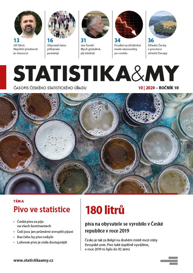 titulní strana časopisu Statistika&My 10/2020