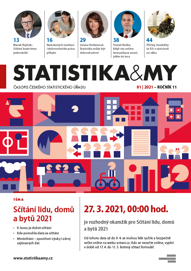 titulní strana časopisu Statistika&My 01/2021