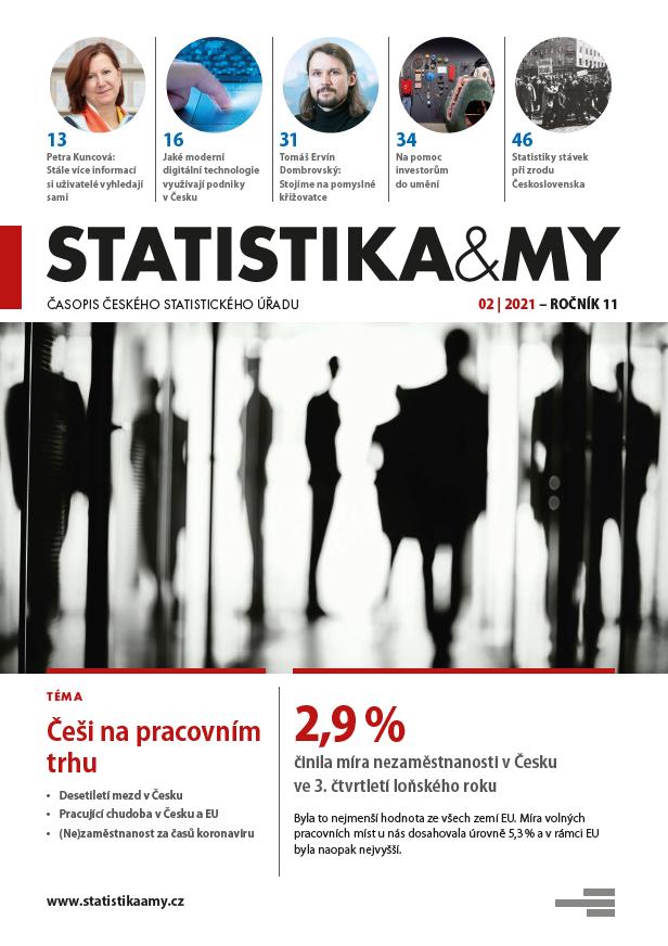 titulní strana časopisu Statistika&My 02/2021