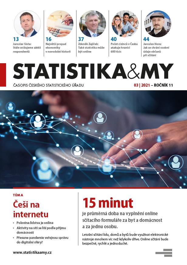titulní strana časopisu Statistika&My 03/2021