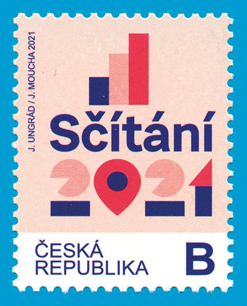 Nová poštovní známka připomíná blížící se sčítání 2021