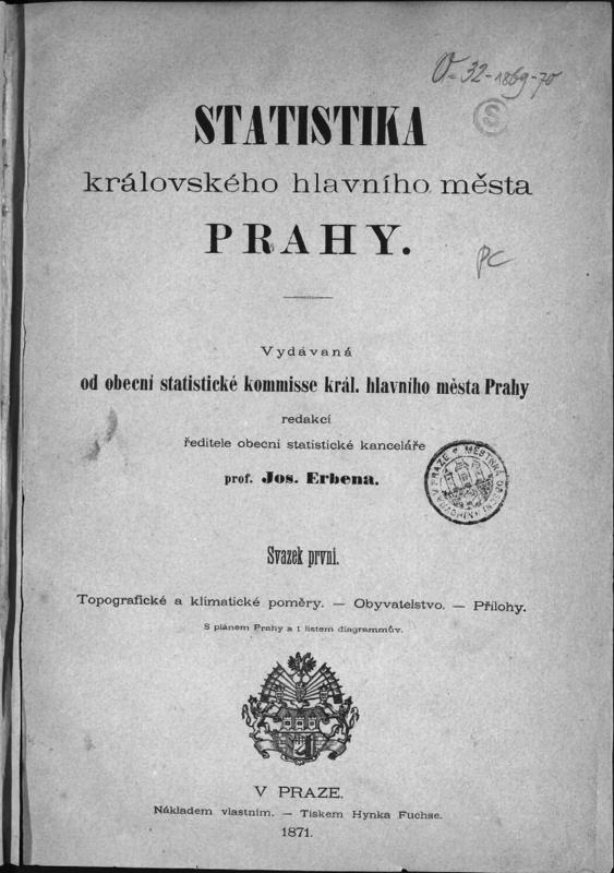 První statistická publikace o Praze