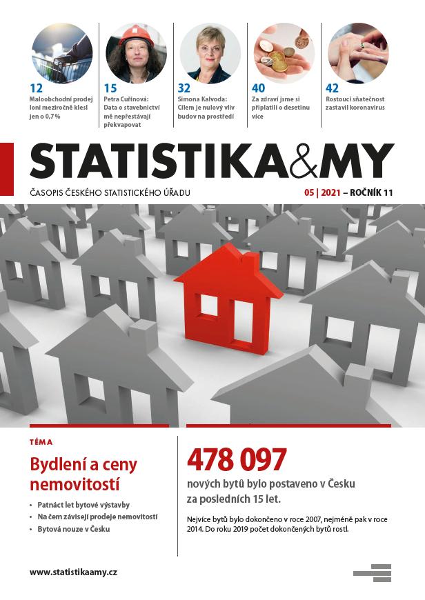 titulní strana časopisu Statistika&My 05/2021