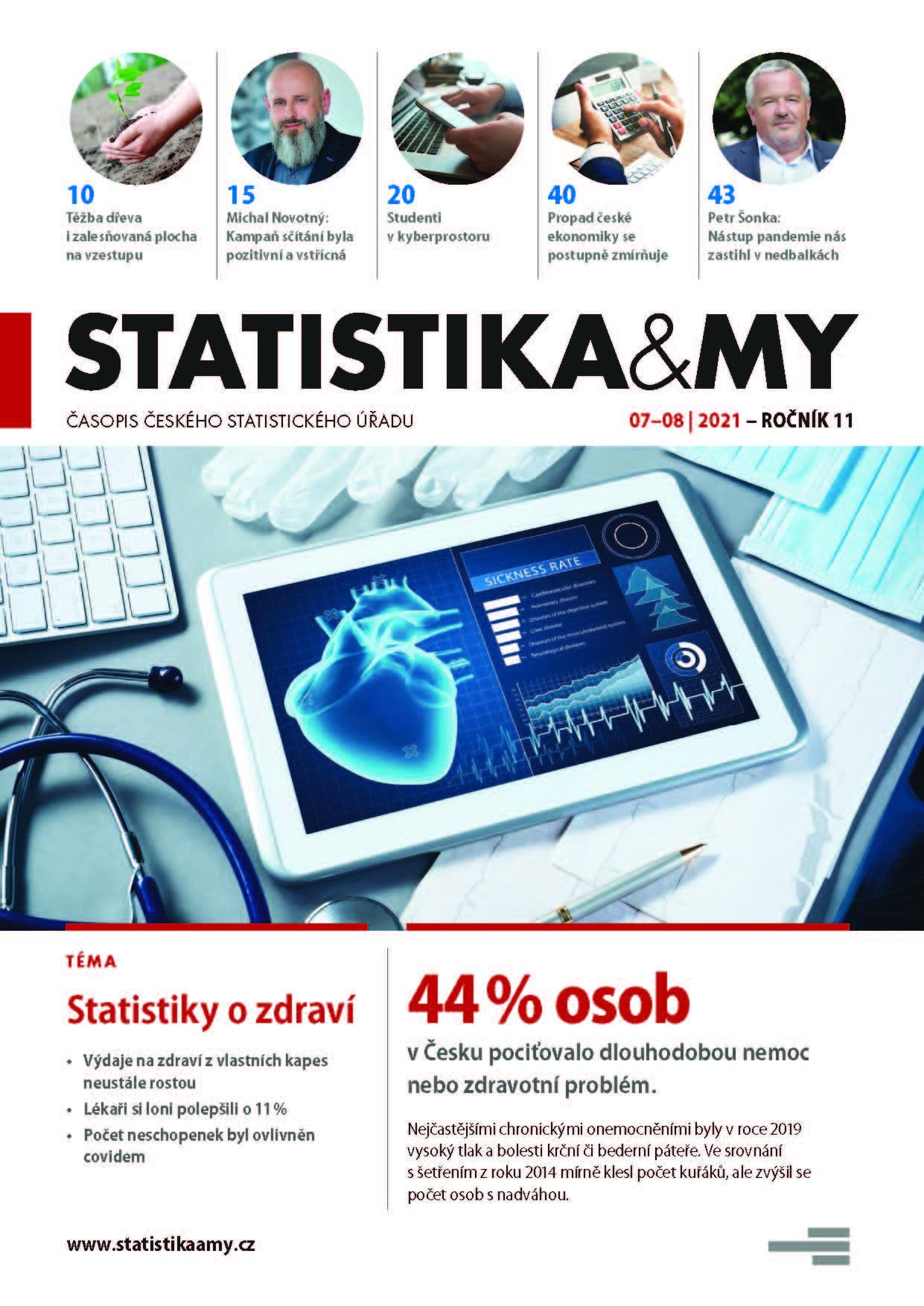 titulní strana časopisu Statistika&My 07-08/2021