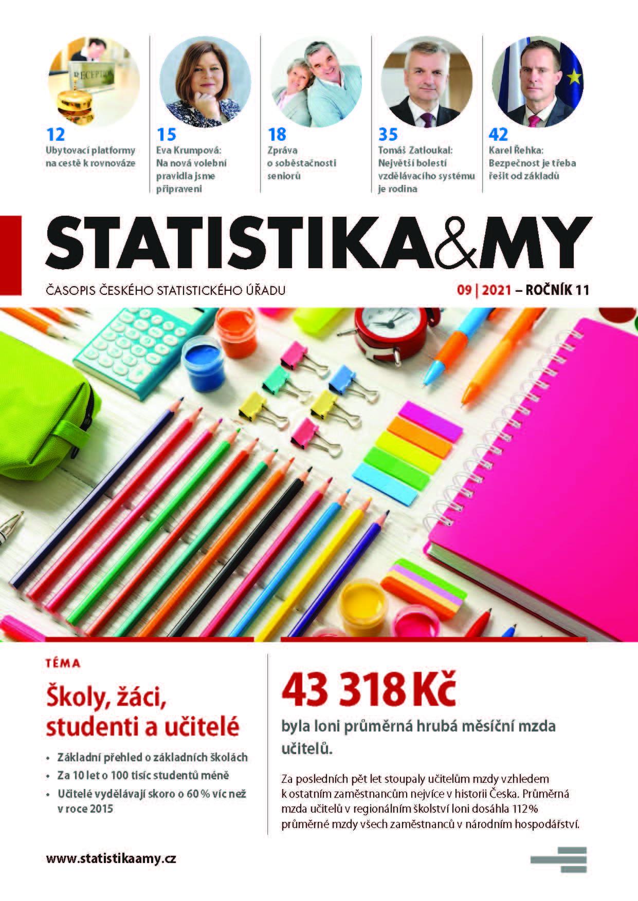 titulní strana časopisu Statistika&My 09/2021